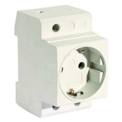 Picture of 230V socket for DIN rail gray
